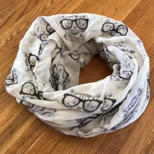Accessories - Cat with Glasses 🐱 Women's Infinity Scarf